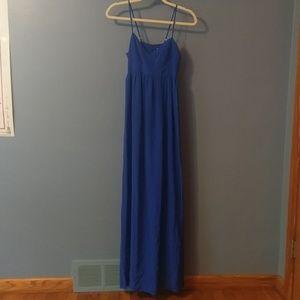 Amanda Uprichard Royal Blue spaghetti string Maxi